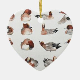 Widgeon. Waterfowl duck gift Christmas Ornament