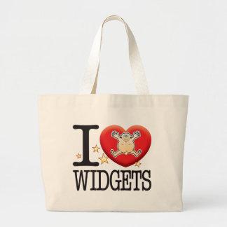 Widgets Love Man Large Tote Bag