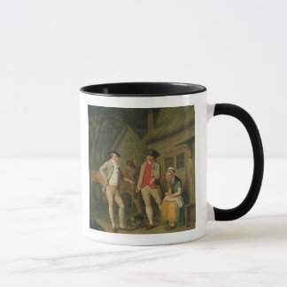 Widow Costard's Cow and Goods, Distrained for Taxe Mug