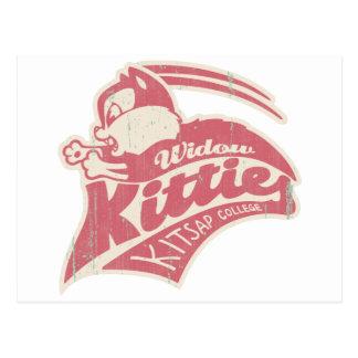 Widow Kitties Team Logo Postcard