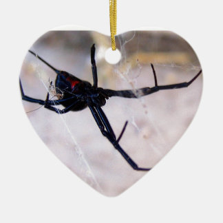 Widow's Web Ceramic Heart Decoration
