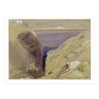 Wied Zurrik, Malta, 10 am, 11th March (w/c, pen, b Postcard