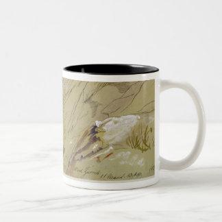 Wied Zurrik, Malta, 10 am, 11th March (w/c, pen, b Two-Tone Coffee Mug