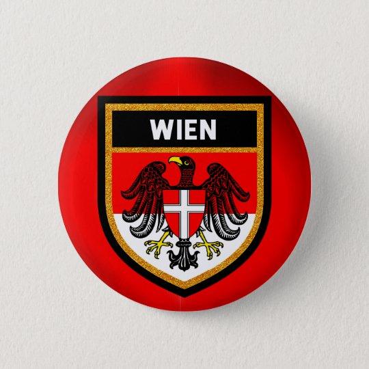 Wien Flag 6 Cm Round Badge