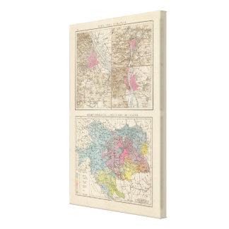 Wien, Prag, BudaPest Map Canvas Print