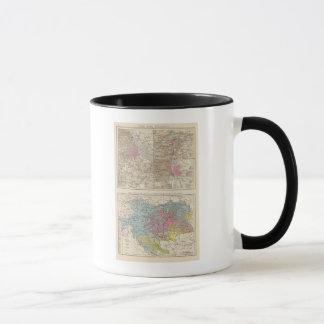 Wien, Prag, BudaPest Map Mug