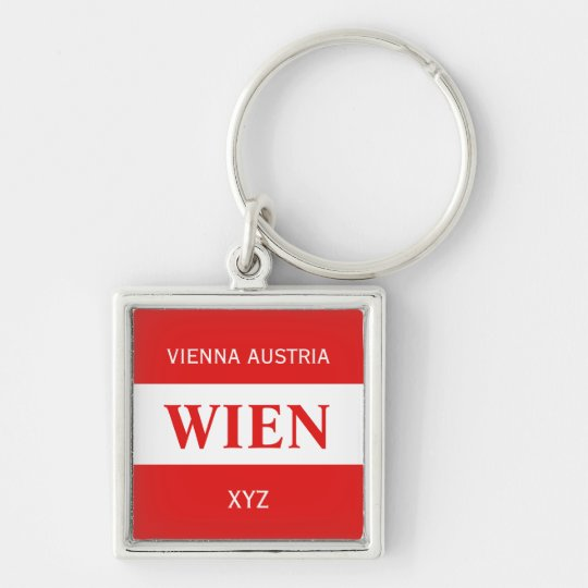 Wien - Vienna custom monogram key chain