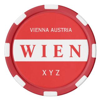 Wien - Vienna custom monogram poker chips