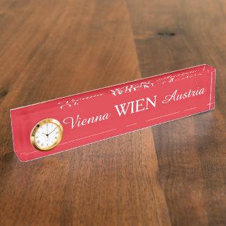 Wien - Vienna desk plate