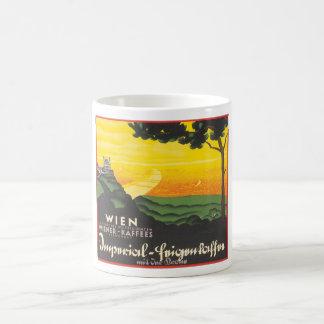 Wien_Vintage Travel Poster Artwork Basic White Mug