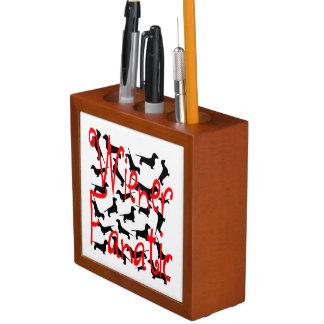 Wiener Dog Fanatic Desk Organiser