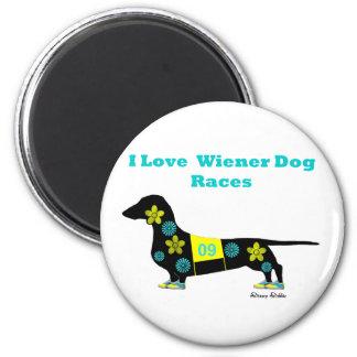 Wiener Dog Races 6 Cm Round Magnet