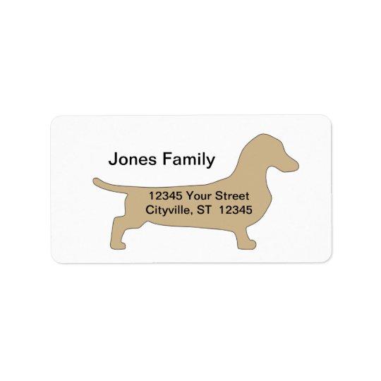 wiener dog return address label