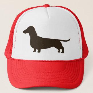 Wiener Dog Silhouette (Short Haired Dachshund) Trucker Hat
