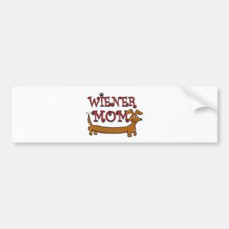 Wiener Mom Oktoberfest Bumper Sticker