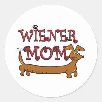 Wiener Mom Oktoberfest Round Stickers