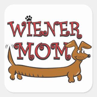 Wiener Mom Oktoberfest Square Stickers