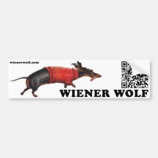 Wiener Wolf Bumper Sticker