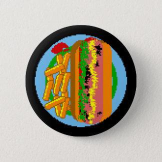Wienerwurst Pixel Plate 6 Cm Round Badge