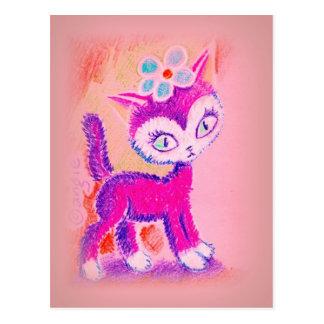Wierd Funny Cat Postcard