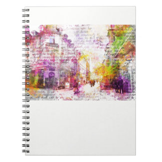 Wiesbaden, Germany. Decay text kind Spiral Notebook