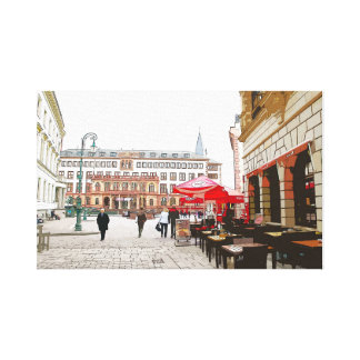 Wiesbaden, market place, city hall - Germany Canvas Print