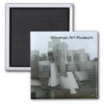 Wiesman Art Museum Square Magnet