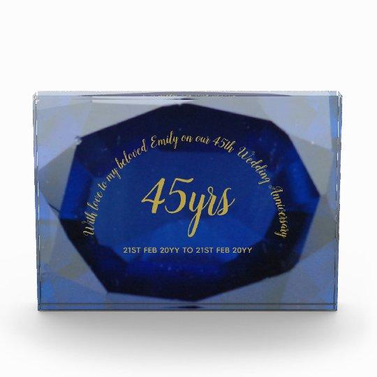 45 Wedding Anniversary Gift Ideas: Wife 45th Wedding Anniversary Custom Gift Ideas