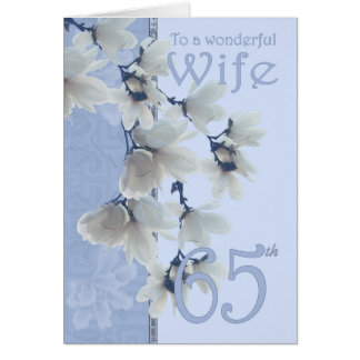 Wife 65 Birthday - Birthday Card Wife