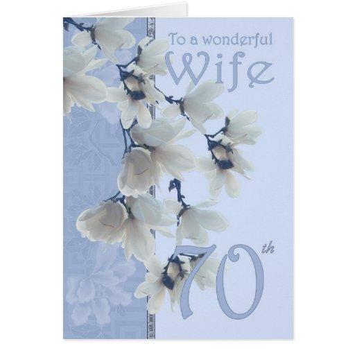 Wife 70 Birthday - Birthday Card Wife