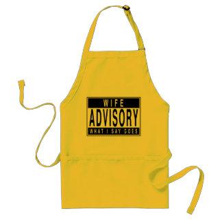 Wife Advisory Adult Apron