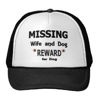 Wife and Dog Missing Trucker Hat