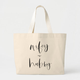 Wife AND Hubby Tote Bag