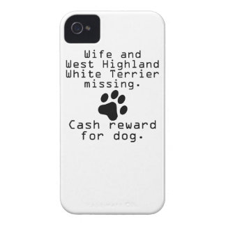 Wife And West Highland White Terrier Missing iPhone 4 Case-Mate Case
