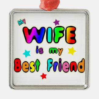 Wife Best Friend Christmas Ornament