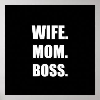 Wife Boss Mom Poster