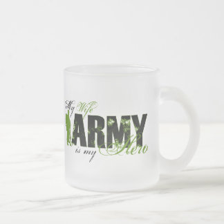 Wife Combat Boots Army Frosted Glass Mug