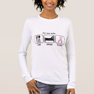 Wife Eat Sleep Hope - Breast Cancer Long Sleeve T-Shirt