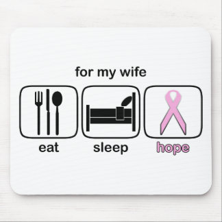 Wife Eat Sleep Hope - Breast Cancer Mouse Pad