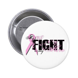 Wife Hero - Fight Breast Cancer 6 Cm Round Badge