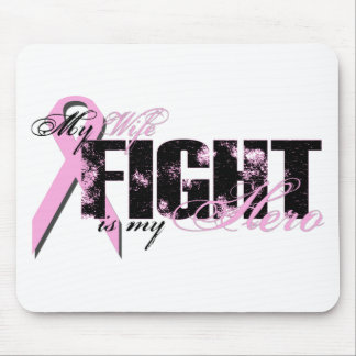 Wife Hero - Fight Breast Cancer Mousepad