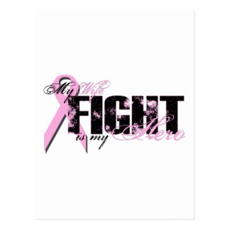 Wife Hero - Fight Breast Cancer Postcard