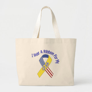 Wife - I Wear A Ribbon Military Patriotic Bag