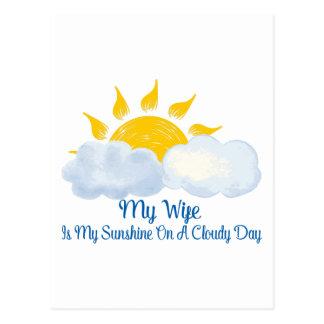 Wife Is My Sunshine Postcard