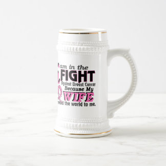 Wife Means The World To Me Breast Cancer Beer Steins