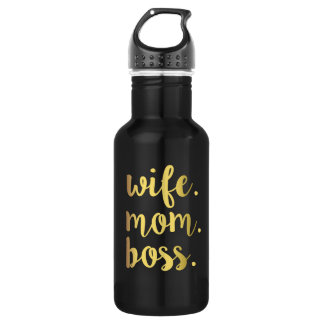 Wife Mom Boss Gold Script water bottle 532 Ml Water Bottle