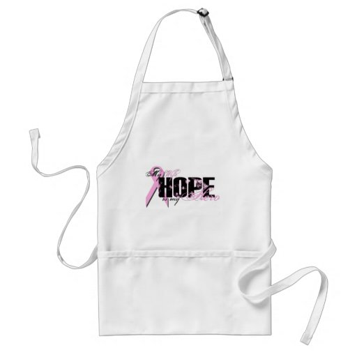 Wife My Hero - Breast Cancer Hope Aprons