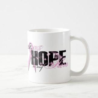 Wife My Hero - Breast Cancer Hope Basic White Mug