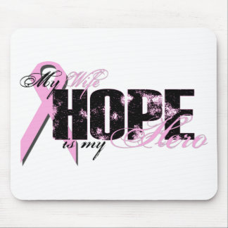 Wife My Hero - Breast Cancer Hope Mouse Pad
