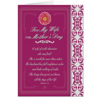 Wife on Mother's Day Proverbs 31 Greeting Card